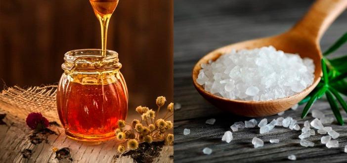 Мед + соль антицеллюлитное обертывание